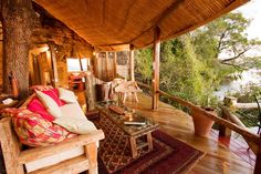 Ever dreamed of lounging around while looking at the stunning African nature.