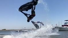 Not Quite Synchronized Back Flipping + Video - Personal Watercraft