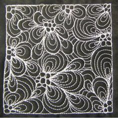 The Free Motion Quilting Project: Day 104 - Paisley Flower