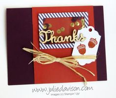 September 2015 Paper Pumpkin Wickedly Sweet Treat: alternative card idea #paperpumpkin #stampinup www.juliedavison.com