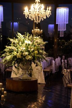White Weddings, White Wedding Flowers, Red Wedding, White Roses, White Flowers, White Floral Arrangements, Flower Decorations, Table Decorations, Reception Areas