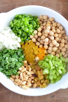Curry Chickpea Salad | A Teaspoon of Happiness