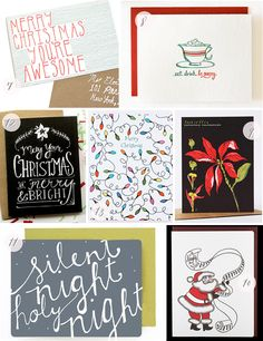 Holiday Card Round Up via Oh So Beautiful Paper (1)