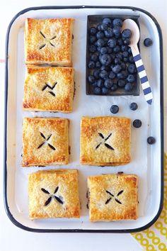 Blueberry Hand Pies Bakealong via @kingarthurflour