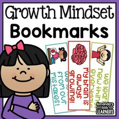 FREE- Growth Mindset Bookmarks - Free Your students will love using these growth mindset themed bookmarks when reading! These bookmarks have a fun image and positive quote. Print and use as a reward or ending activity for a positivity unit.