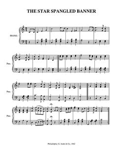 National Anthems for over 100 different Countries for various difficulty levels and Instrumentations - FREE Sheet Music PDF's to download and Print
