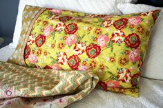 French seamed pillow case