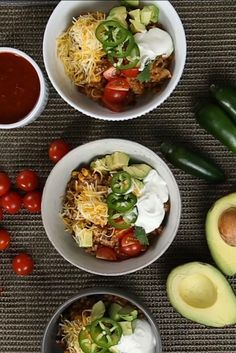 Chicken Burrito Bowl, Chicken Burritos, Easy Weekday Meals, Easy Meals, Whole 30 Recipes, Real Food Recipes, Pressure Cooker Recipes, One Pot Meals, Easy Cooking