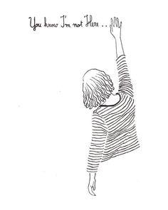 illustration art by The Twee Tomboy I'm not Here. illustration art by The Twee Tomboy Pencil Art Drawings, Easy Drawings, Drawing Sketches, Drawing Ideas, Sketching, Art And Illustration, Illustrations, Pen Art, Line Drawing