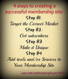 4steps to creating successful membership site
