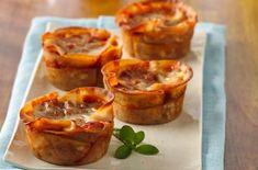 Easy Dinner Recipe: Vegetarian Lasagna Cups #vegetarianrecipe #meatlessMonday