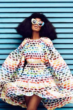 Solange Knowles in Chanel SS14