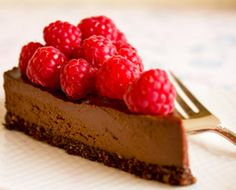 This raw vegan chocolate cheesecake recipe gets rich creaminess from cashews and coconut oil, plus intense dark chocolate flavor from raw cacao powder, making our raw chocolate cheesecake a chocolate-lover's dream!