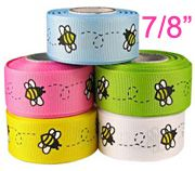 """z-New product--7/8"""" bumble bee grosgrain ribbon"""