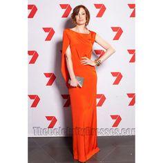 Hannah Marshall Long Orange Prom Dress Evening Formal Dresses - TheCelebrityDresses