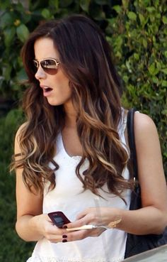 Ombre Hair 2014 - Dip-dye Highlighted Long Ombre Hair for Summer @Amanda Snelson Miles