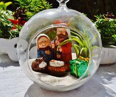 Christmas Manger Scene  Glass Globe by BeachCottageBoutique, $19.95