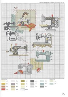 Cross stitch - sewing machines