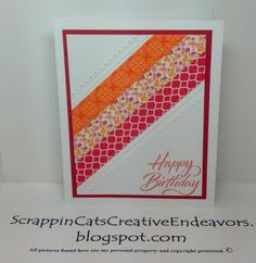 Welcome to Scrappin' Cat's Creative Endeavors: Washi tape cards