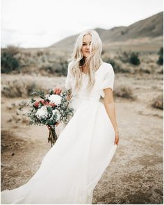 modest wedding dress with flutter sleeves from alta moda. -- (modest bridal gown).