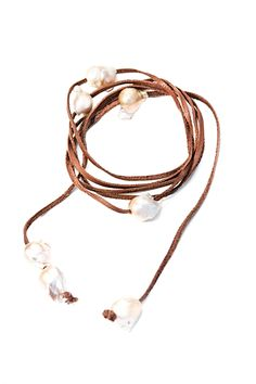 Wear this so many different ways. Create your own look with Fresh Water Baroque Pearl Lariat  www.pamedesigns.com