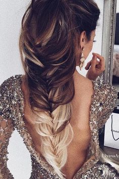 wedding hairstyle from ulyana aster ombre braid fishtail ulyana aster