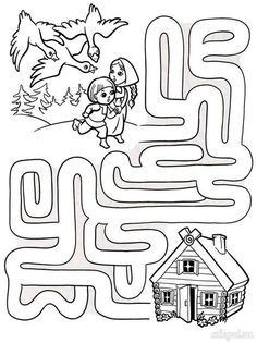 Puzzle Coloring Pages Cutting Activities For Kids, Preschool Learning Activities, Math For Kids, Lessons For Kids, Preschool Activities, Kids Learning, Mazes For Kids Printable, Fun Worksheets For Kids, Free Kindergarten Worksheets