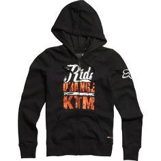 Fox Womens KTM Ride Orange Zip Hoody