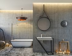 """Check out new work on my @Behance portfolio: """"GreyBathroom"""" http://be.net/gallery/34936133/GreyBathroom"""