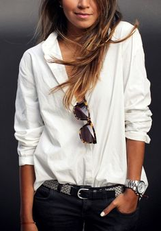 White Cotton High-Low Shirt – Lookbook Store