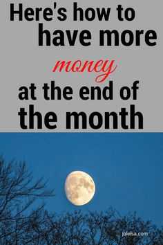 More Month Left at the end of the Money