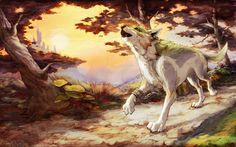 Wolf Link art, from The Legend of Zelda Twilight Princess