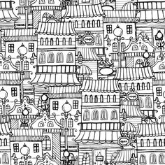 Do you like old town houses? If you do, then this Town Houses Coloring Page is the right thing for you!