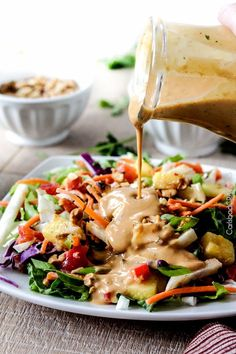 Easy 5 Minute ridiculously delicious Asian Peanut Coconut Dressing layered with multidimensional flavors of savory and nutty with with a touch of sweet and fresh citrus will have you drinking it straight from the blender!