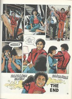"""#MichaelJackson """"Il était une fois - Michael Jackson"""", #Disney, France 1985 MJ Thriller comic? awesome"""