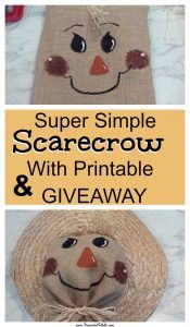 Super Simple Scarecrow How-To w/Printable Home Organization Hacks, Autumn Activities, Fall Diy, Simple House, Creative Crafts, Super Simple, Christmas Diy, Giveaway, Printables