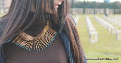 Outfit with DIY necklace inspired by Aurèlie Bidermann