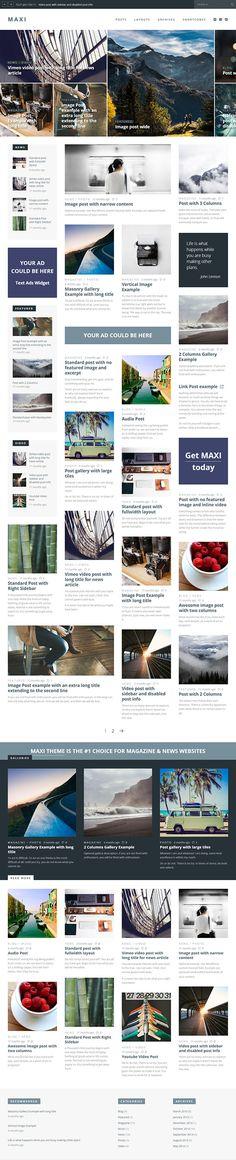 Maxi – News & Magazine Responsive WordPress Theme
