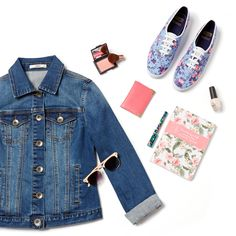 How to Wear The English Rose #PerfectlyPaired  Shop now at: http://www.oasis-stores.com/keds-floral-lace-up/shoes/oasis/fcp-product/6700014200