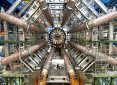 CERN scheduled to announce discovery of Higgs-Boson particle on 4th of July. Here's a view of the Large Hadron Collider which is an awesome piece of real world scifi hardware.    http://www.dailymail.co.uk/sciencetech/article-2167188/God-particle-Scientists-Cern-expected-announce-Higgs-boson-particle-discovered-Wednesday.html