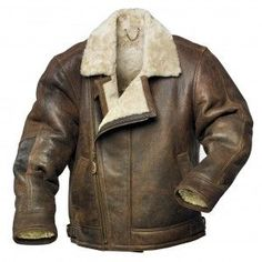 Mens Sheepskin Aviator Jacket