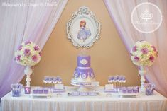 Sofia the first birthday party | CatchMyParty.com