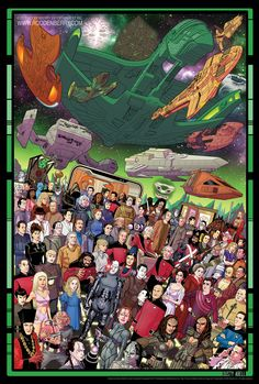 Star Trek: The Next Generation Anniversary Official 3 print set limited edition of 1800 pieces. Art by Dusty Abell. Science Fiction, Fiction Film, Fantasy Fiction, Akira, Movie Poster Size, Star Trek Posters, Star Trek Cast, Star Trek Characters, Kino Film