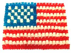 These USA Gummy Bears proudly honor our troops defending our freedom. A delicious combination of red, white, and blue!  (Found an awesome site. It has sugar-free stuff, organic stuff, gluten free stuff, all sorts of different flours I didn't know existed, and fast shipping. Had to pin it.)
