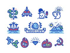 Misc. Icons - Kevin Moran // Illustration + Design // Toronto