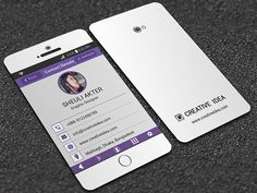 Iphone x mobile business card template psd business card business card iphone cerca con google reheart Images