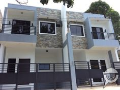 Modern Apartment Design, Duplex House Design, Small House Design, Cool House Designs, Modern House Design, Building Development, Townhouse Designs, Apartment Projects, Minimalist House Design