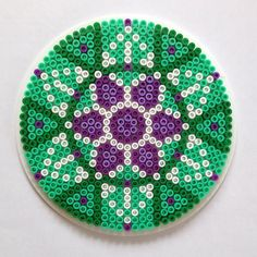 Mandala hama perler beads by knitirene