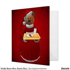 Dinky Bears Mrs. Santa Claus Binder