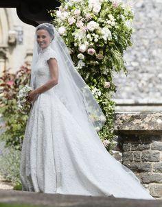 <p><em>[Photo: PA]</em> </p> Pippa Middleton Boda, Pippa Middleton Wedding Dress, Carole Middleton, Pippas Wedding, Wedding Veils, Church Wedding, Wedding Photos, Dress Wedding, Wedding Outfits